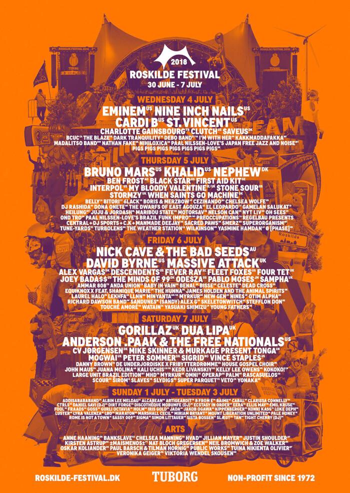 roskilde festival artister