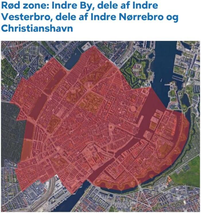 Zonekort københavn Priser for