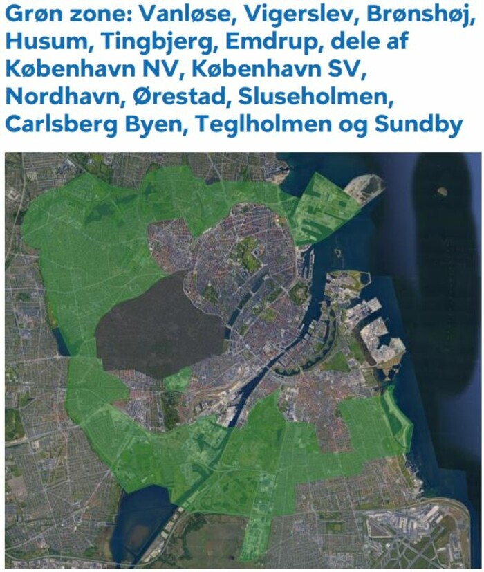 Zonekort københavn Zonesystemet