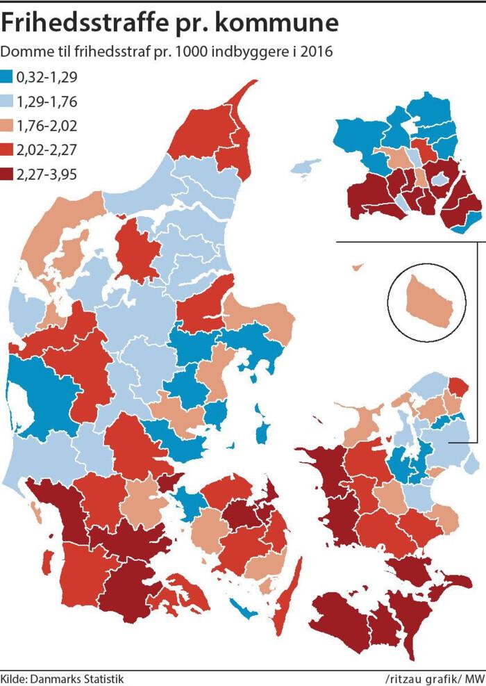 Det Kriminelle Danmarkskort