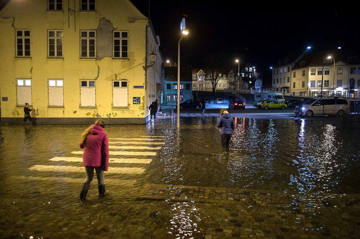 Forhøjet vandstand Sønderborg