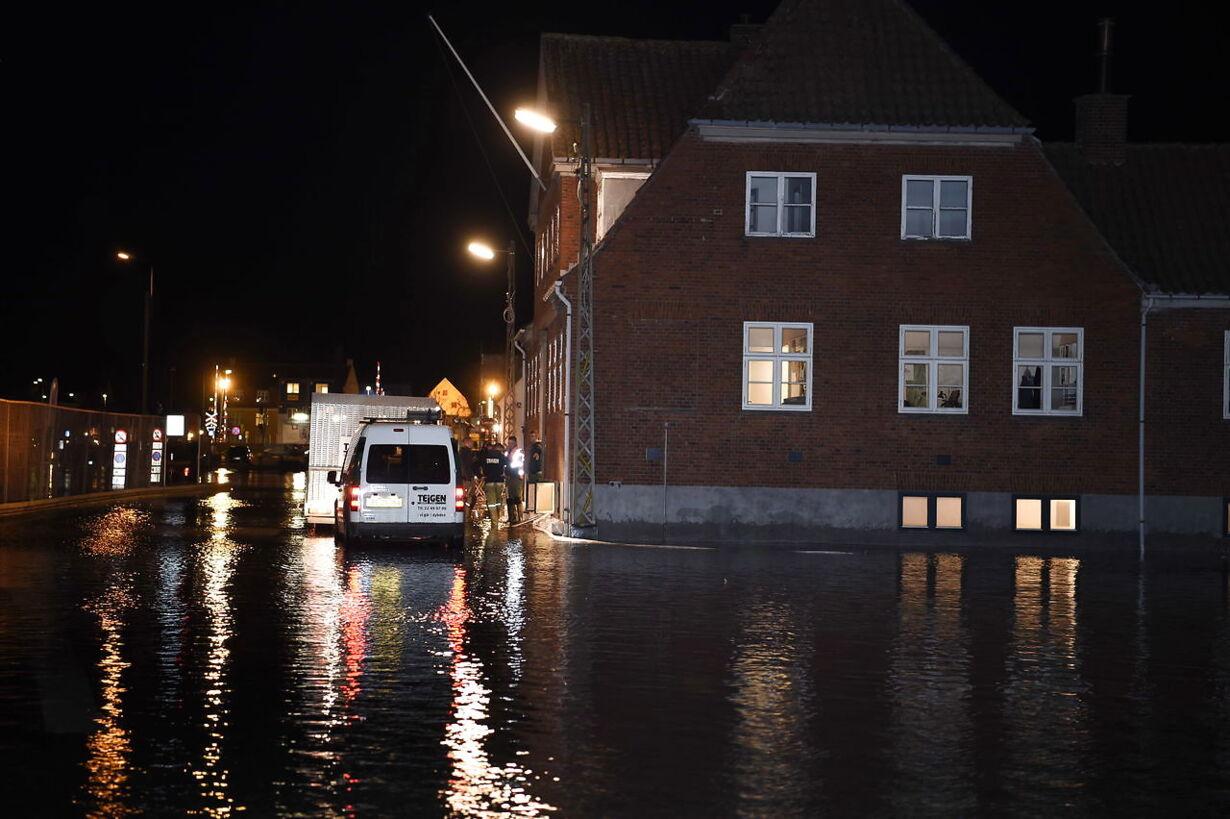 Stormflod i Køge havn