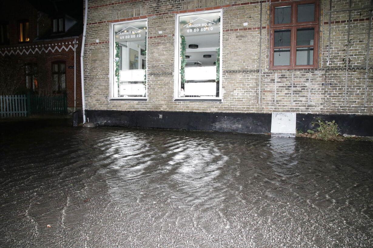 Forhøjet vandstand i Dragør by