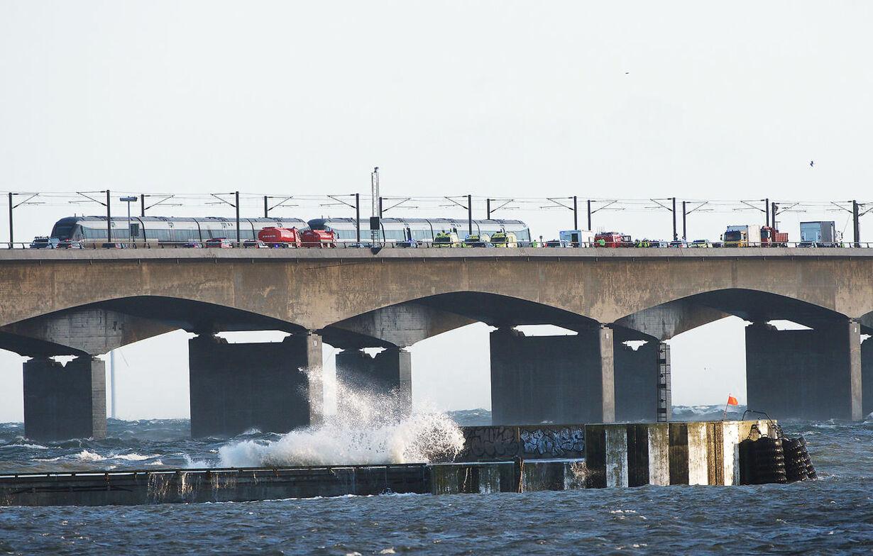 Togulykke på Storebæltsbroen