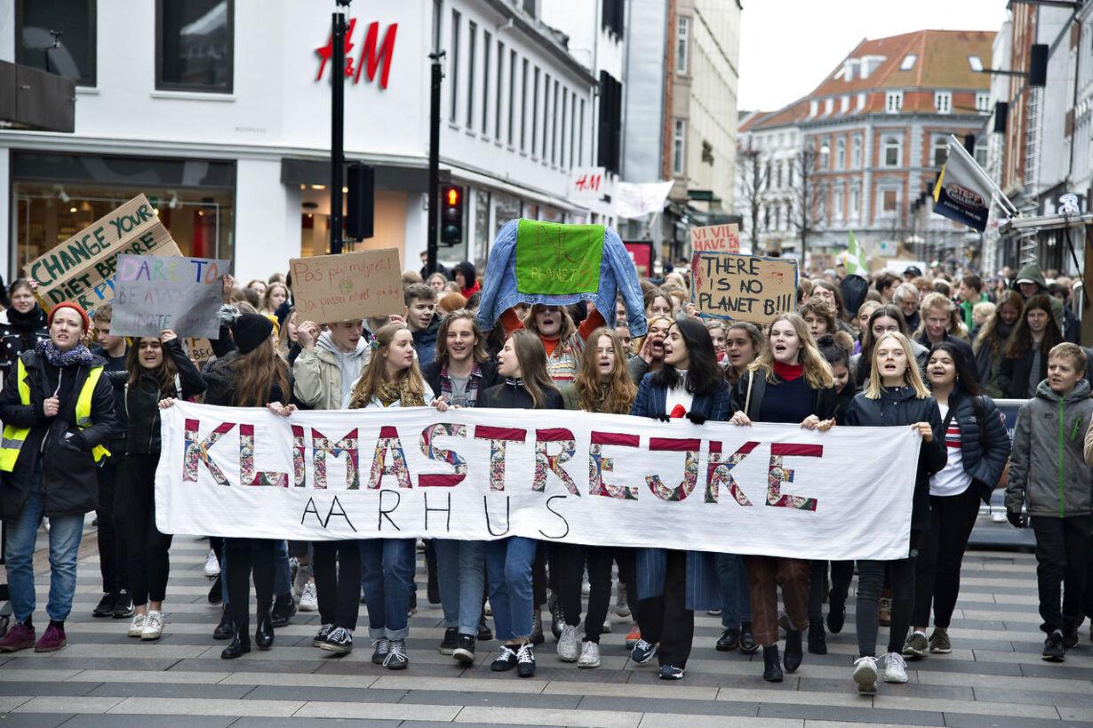 International climate strike in Aarhus and Copenhagen