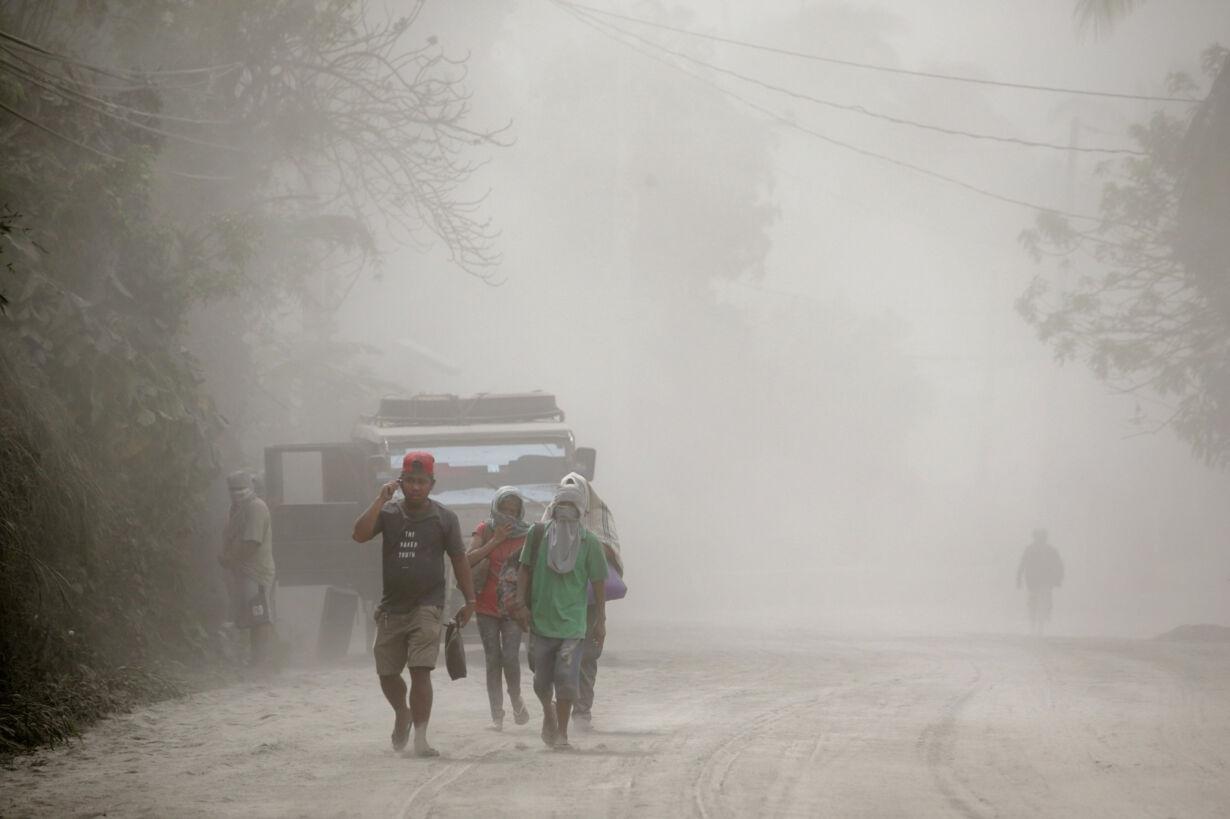 Residents living near the erup