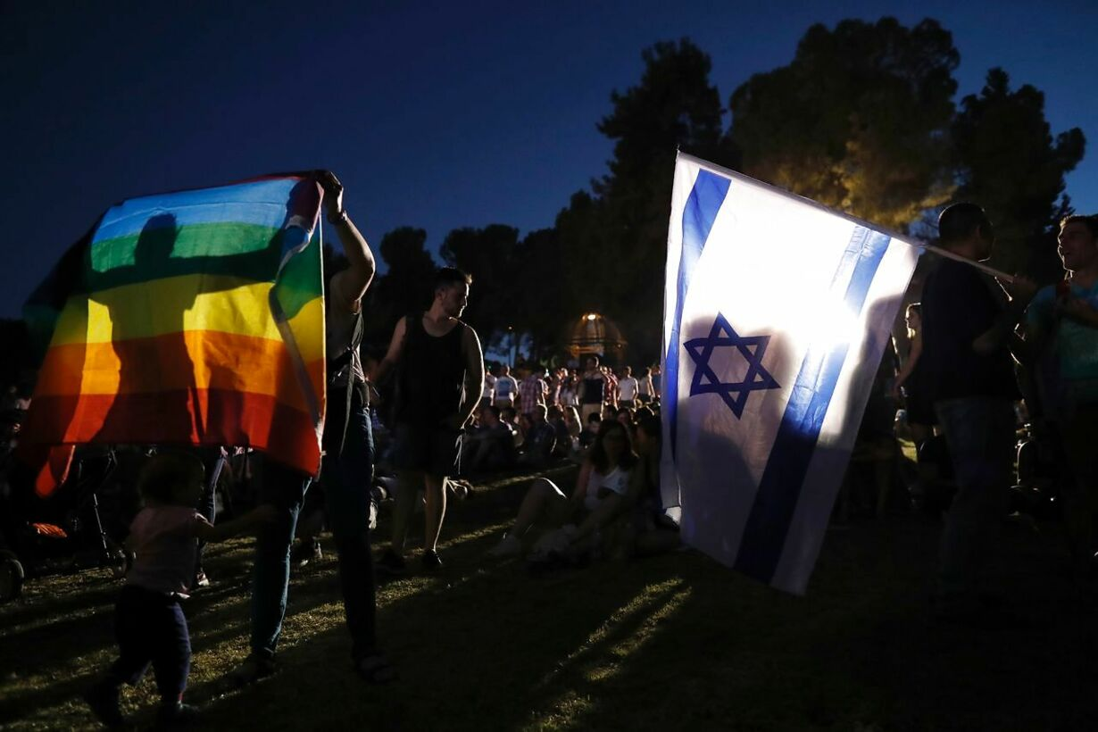 Homo-optog igennem Jerusalems gader