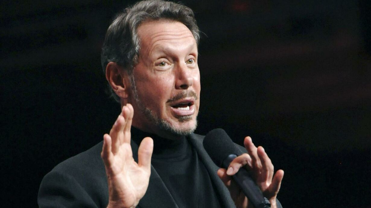 Oracle CEO Larry Ellison delivers the keynote address at the 29t