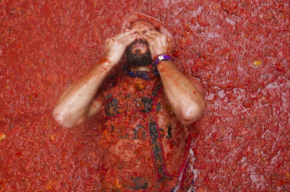 Tomatfestival i Spanien