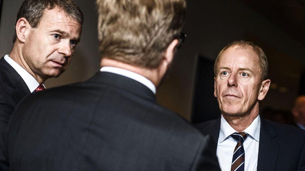 Afskedsreception i Nordea for Christian Clausen. Her ses tidligere Carlsberg-topdirektør Jørgen Buhl Rasmussen.