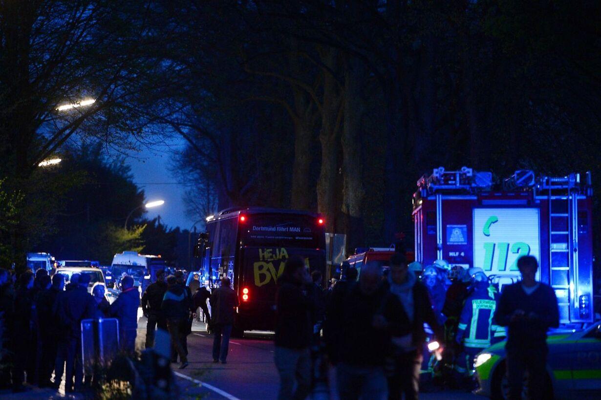 Angreb mod spillerbus i Dortmund