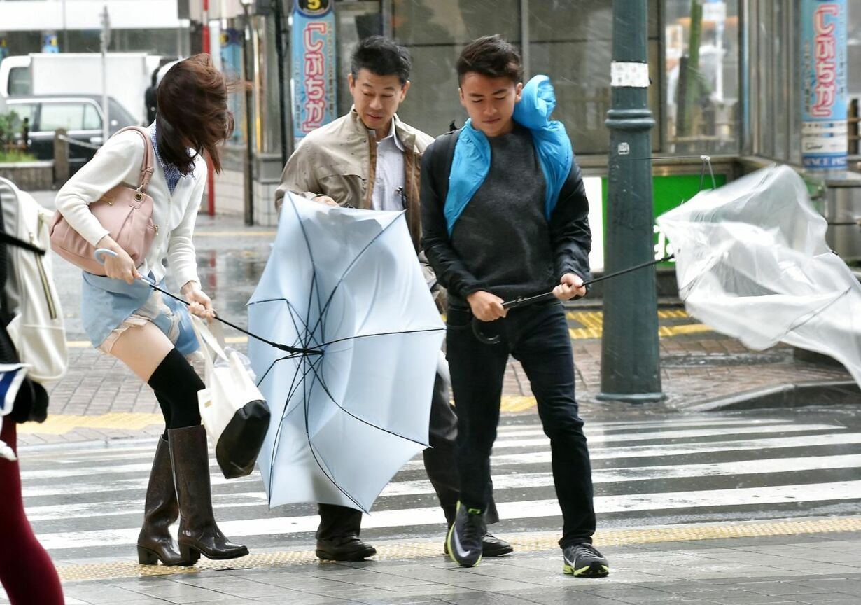 JAPAN-WEATHER-TYPHOON
