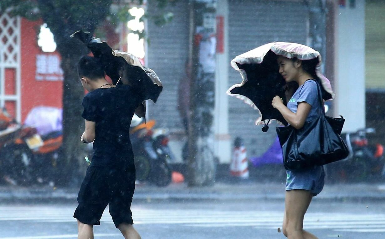 CHINA-WEATHER-STORM-TYPHOON