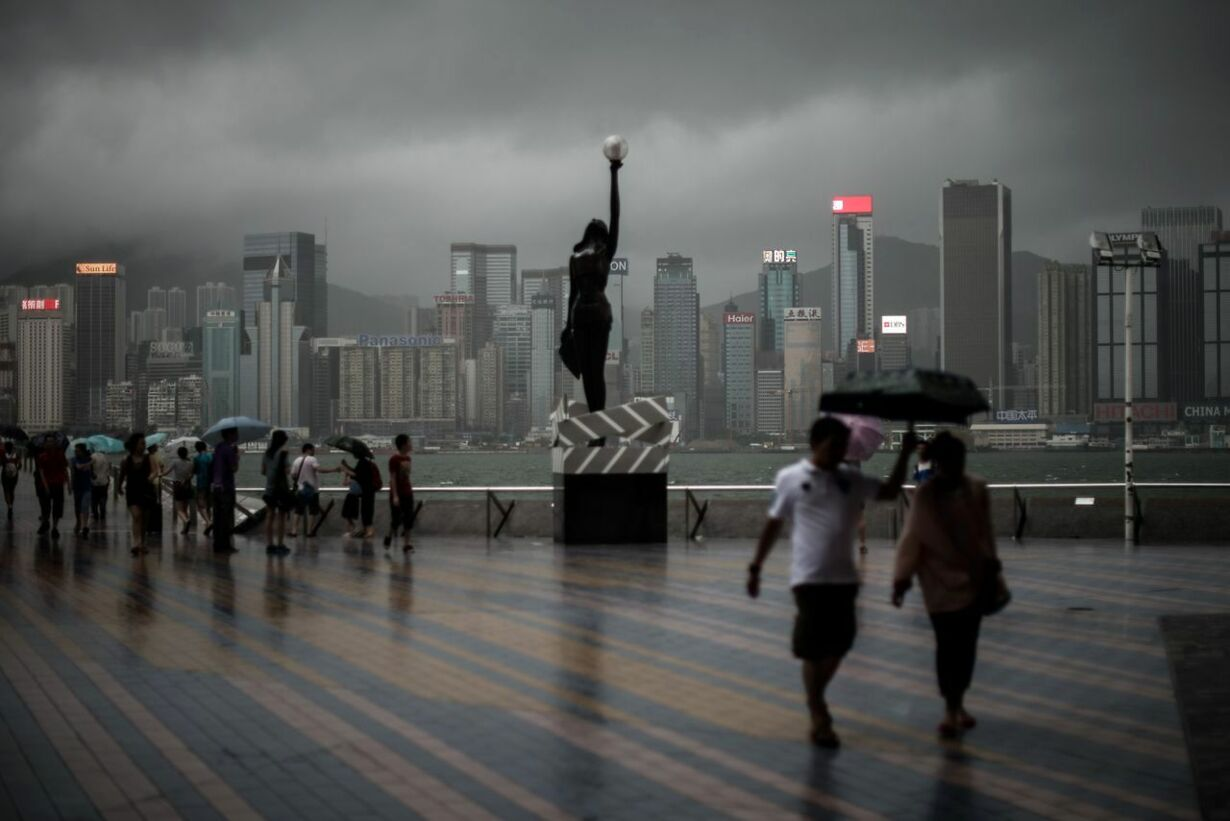 HONG KONG-CHINA-WEATHER-TYPHOON