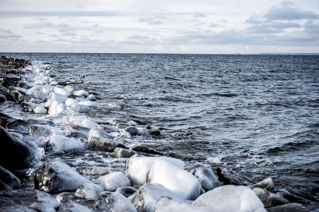 Frosten har et godt tag i Danmark