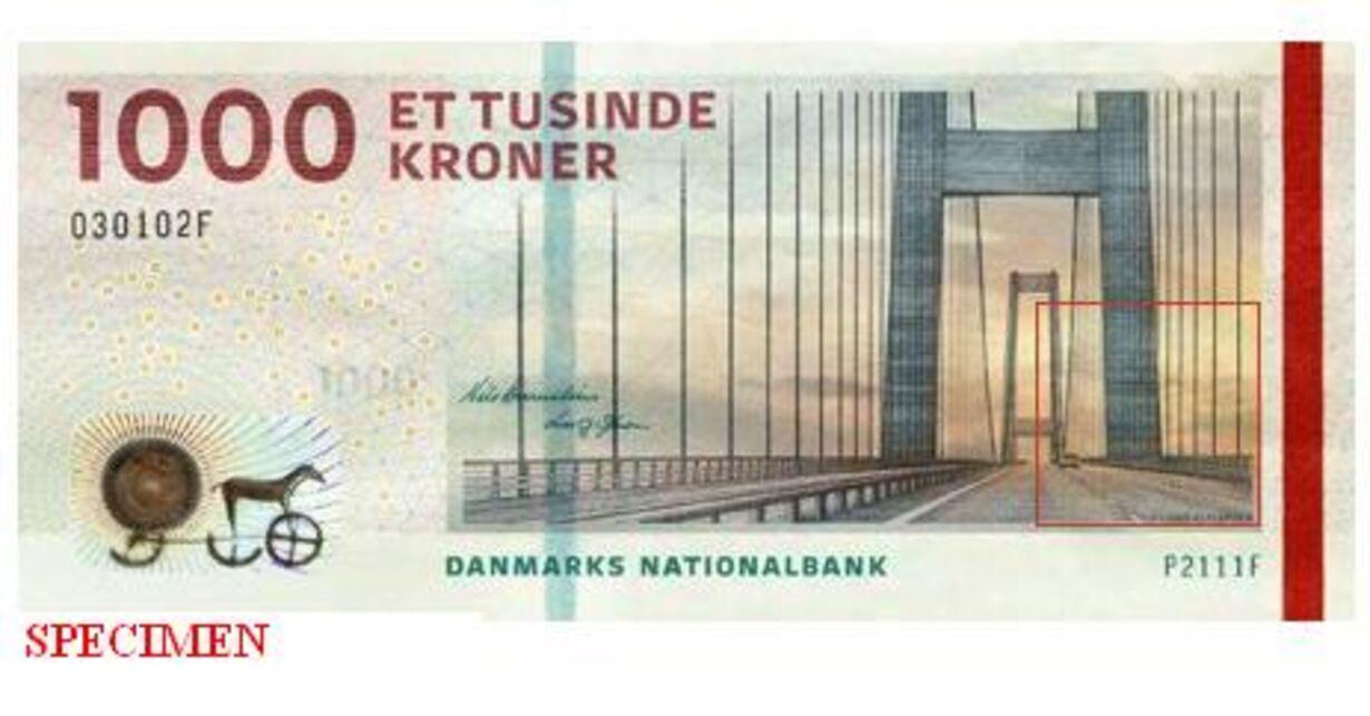 1000 kroner seddel