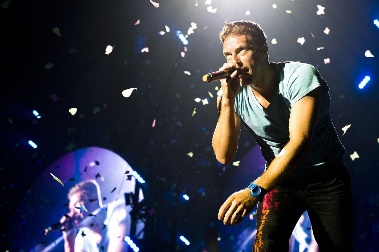 Coldplay spiller i Parken