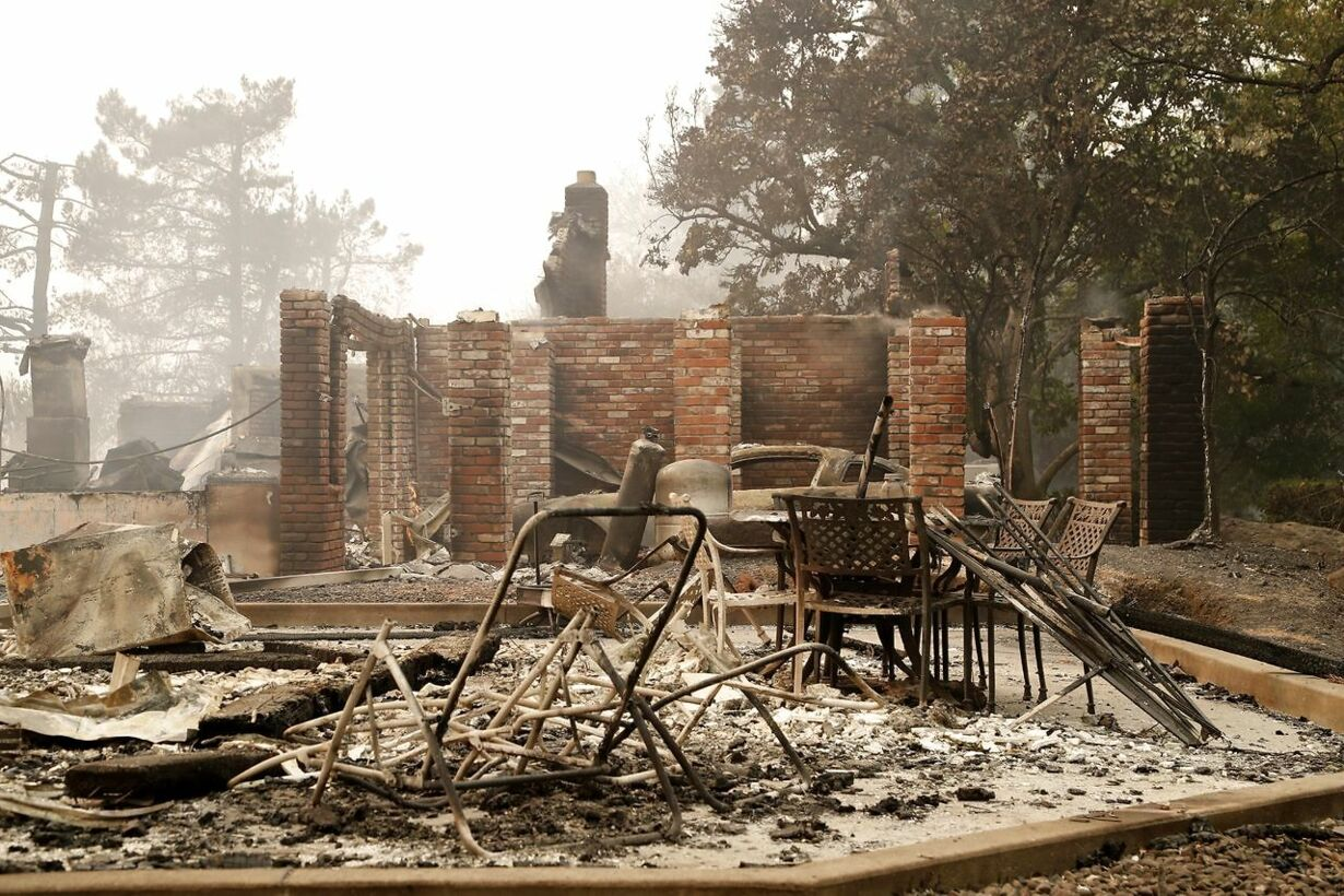 USA NORTHERN CALIFORNIA FIRE