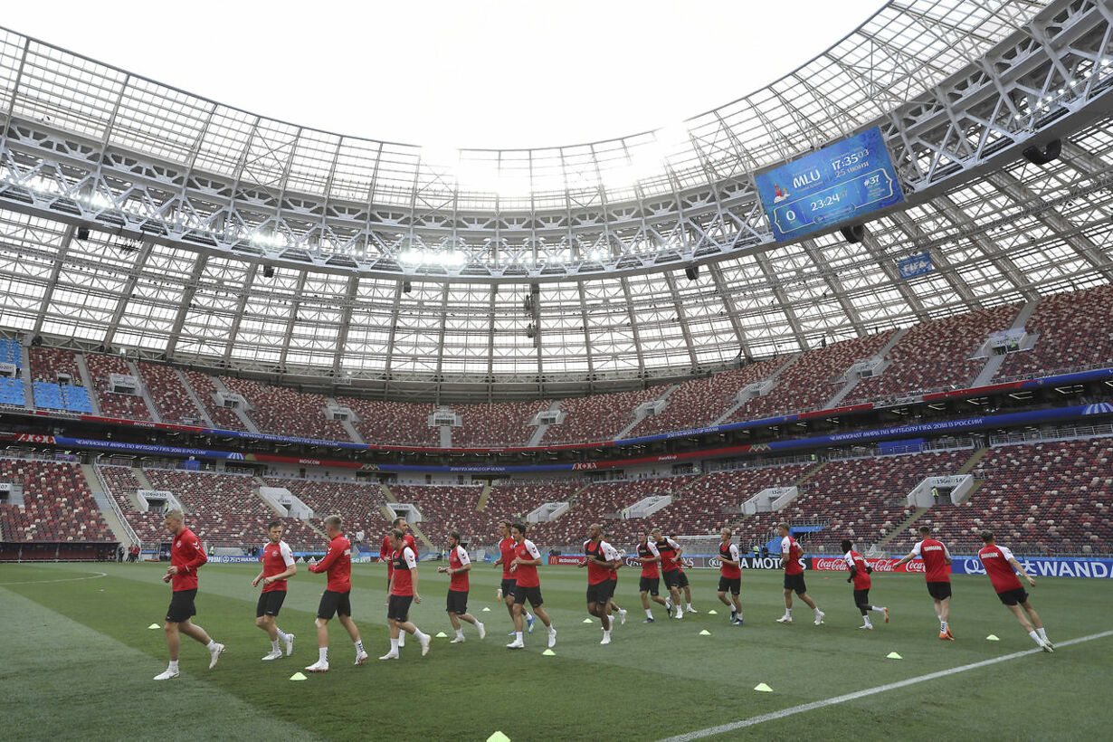 Russia Soccer WCup Denmark