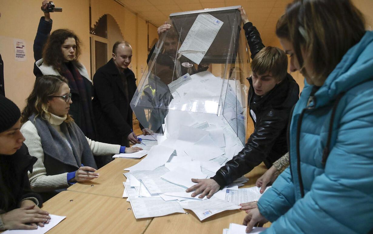 APTOPIX Russia Presidential Election