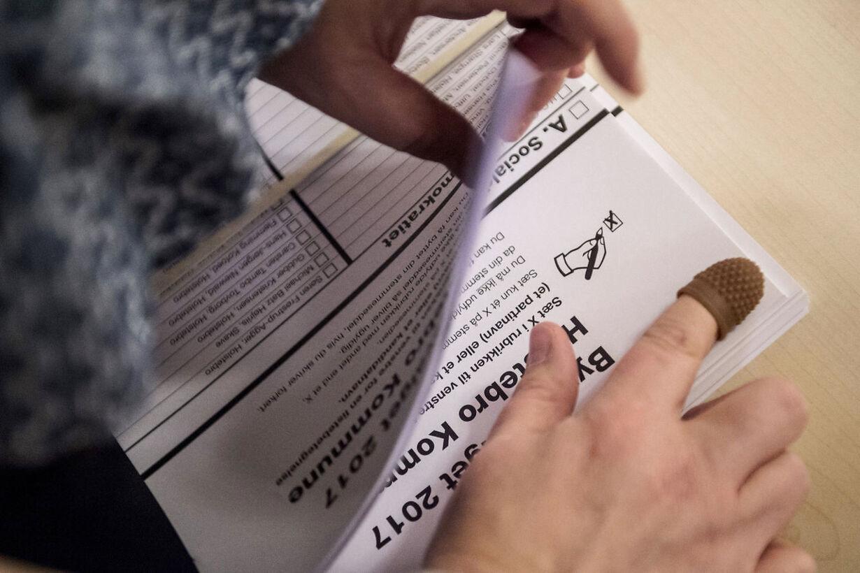 Der stemmes til kommunal- og regionrådsvalget 2017 i Vinderup v
