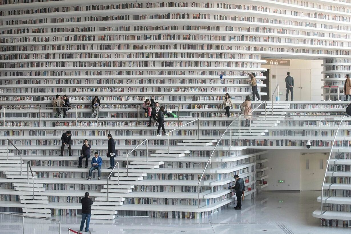 TOPSHOT-CHINA-LIBRARY-ARCHITECTURE