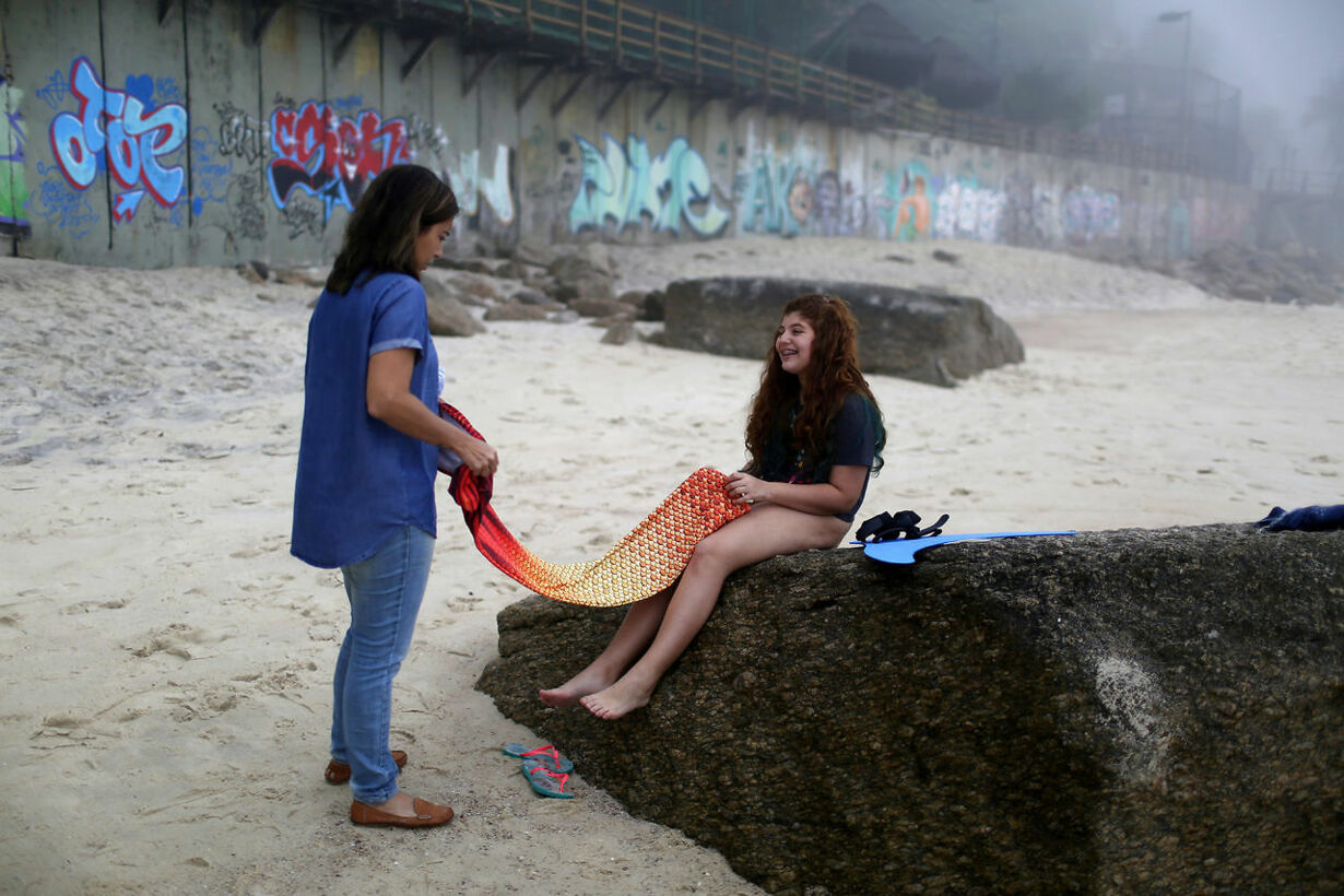 Havfrue træning i Brasillien
