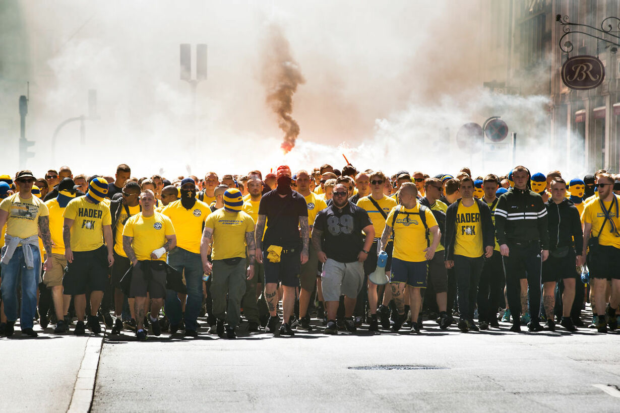 Brøndby fans mødes inden pokalfinalen