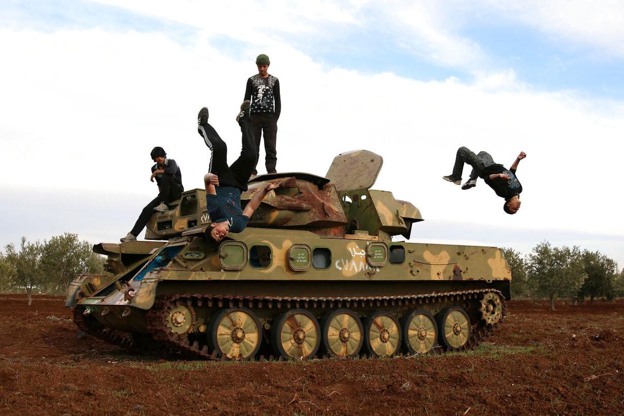 Syriske unge finder ro ved at dyrke parkour