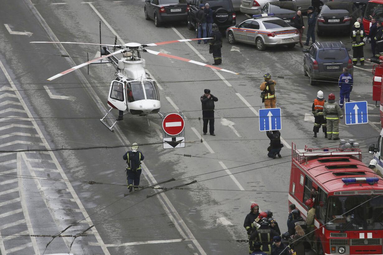 Bombeeksplosion i Sankt Petersborg RUSSIA-BLAST/METRO