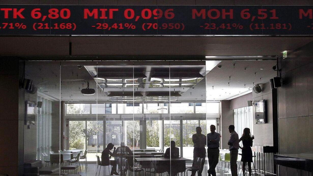 1. mandag - græsk børs