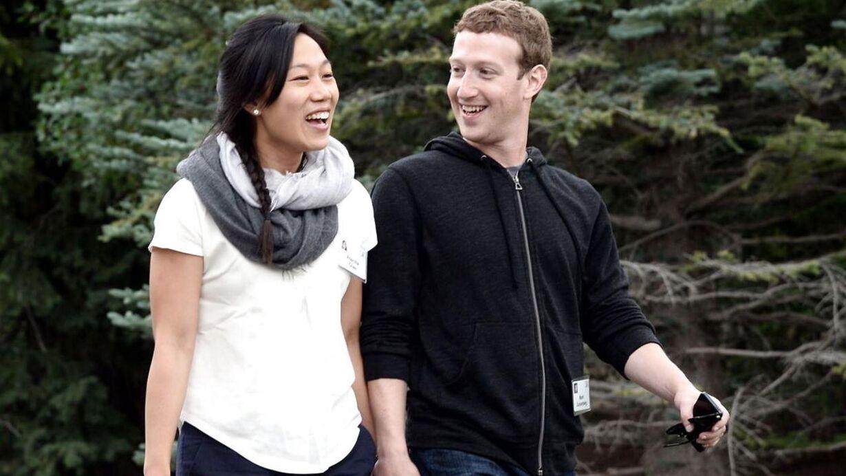9.  Mark Zuckerberg og Priscilla Chan