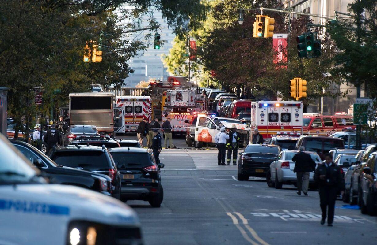 Mand i varebil dræber otte ved angreb i hjertet af New York US-