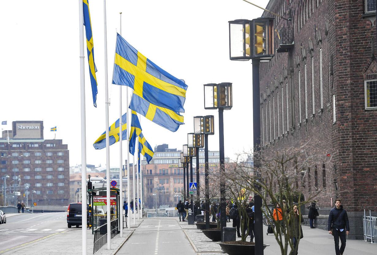 Mindehøjtidlighed i Stockholm TERRORATTACK DROTTNINGGATAN