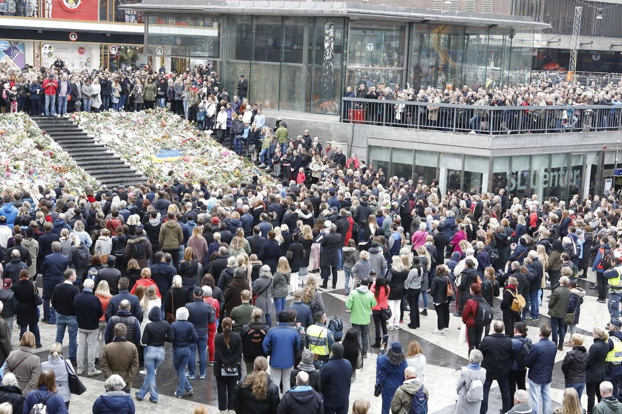 Mindehøjtidlighed i Stockholm TERRORATTACK STOCKHOLM