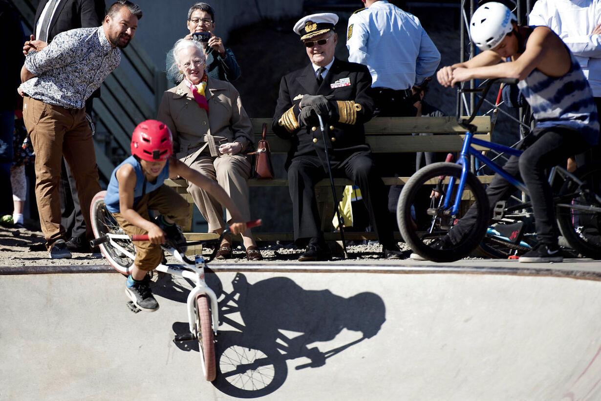margrethe og en cykel