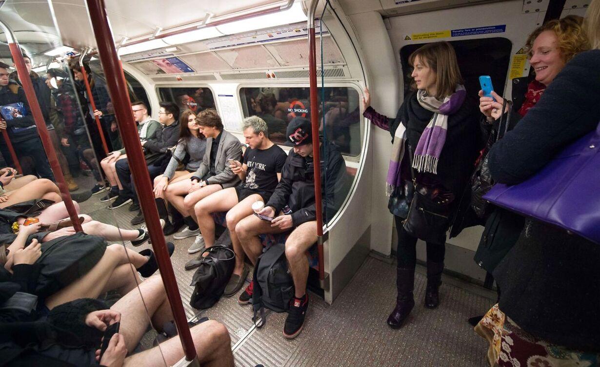BRITAIN-PEOPLE-NO PANTS SUBWAY RIDE