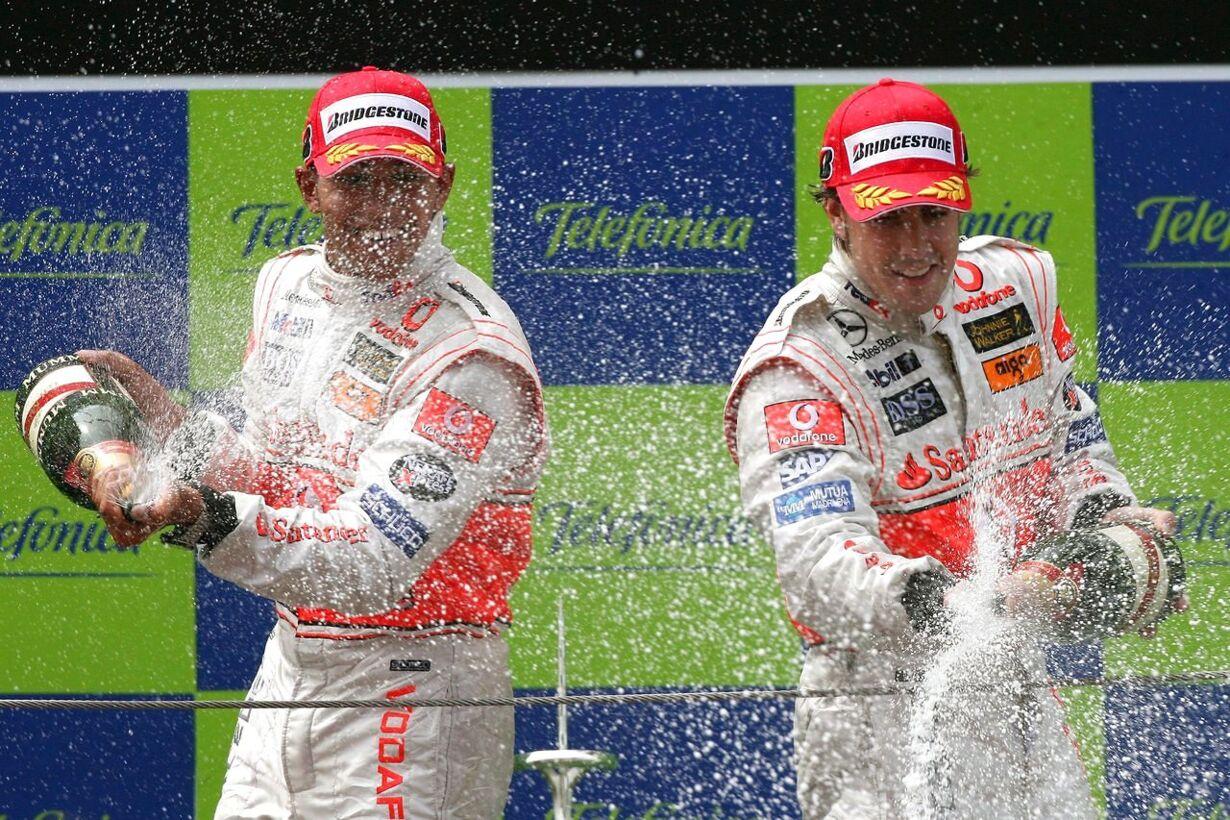 SPAIN F1 PODIUM