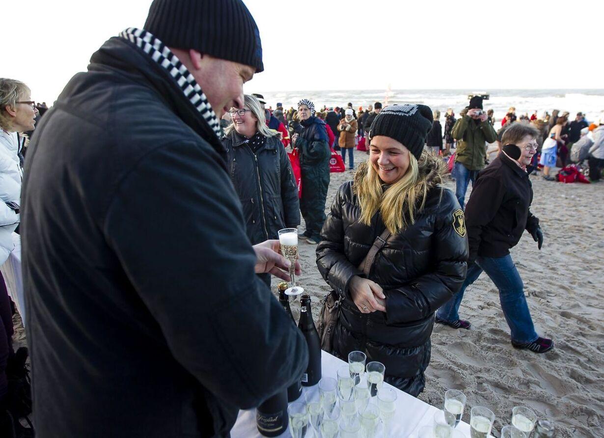 Vinterebadere i Søndervig
