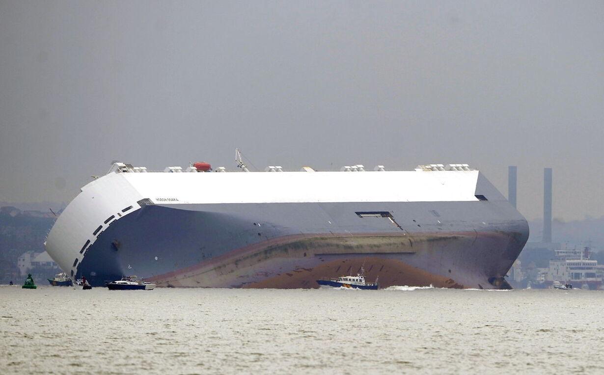 BRITAIN CARGO SHIP ACCIDENT