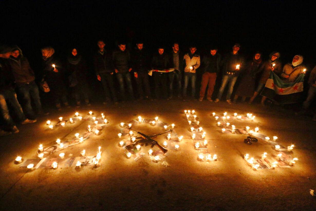 Billedserie: Nytårsaften verden rundt SYRIA-CRISIS/