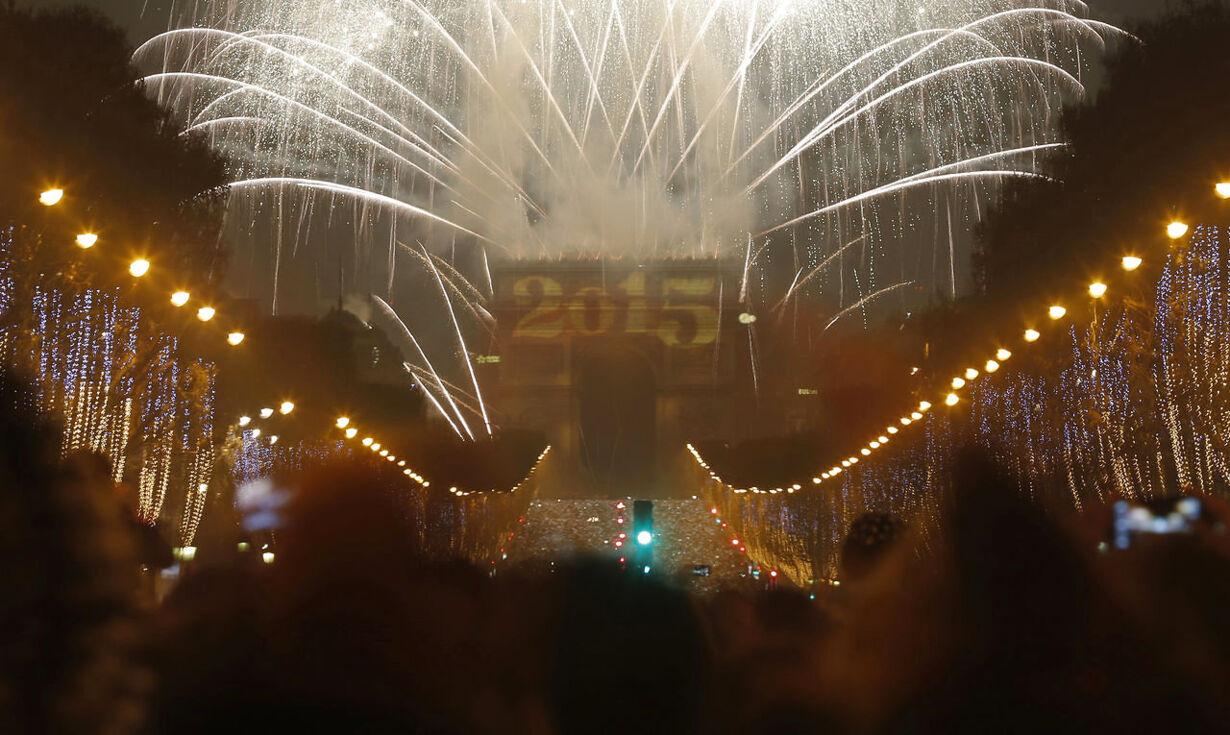 Billedserie: Nytårsaften verden rundt NEWYEAR-CELEBRATION/FRANC
