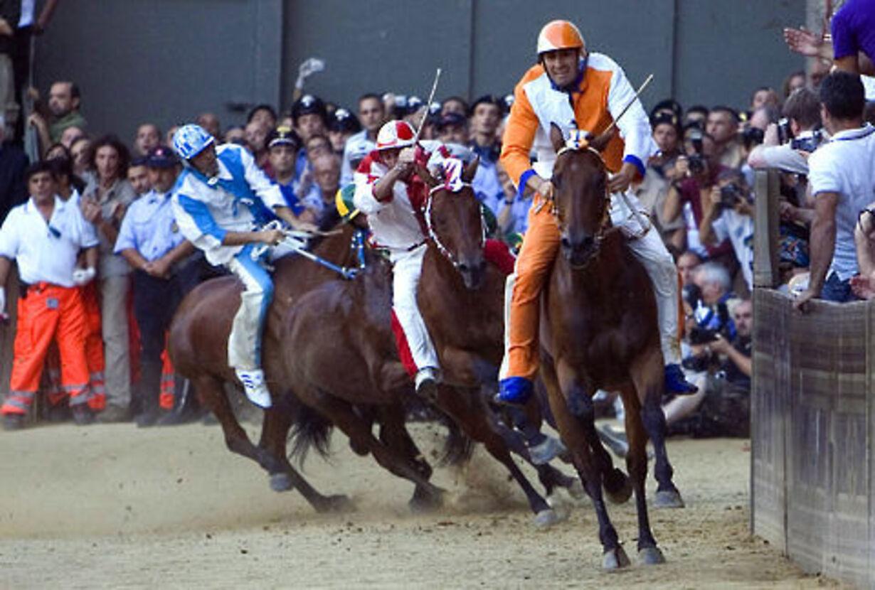 Historisk hestevædeløb på torvet i Siena - 8