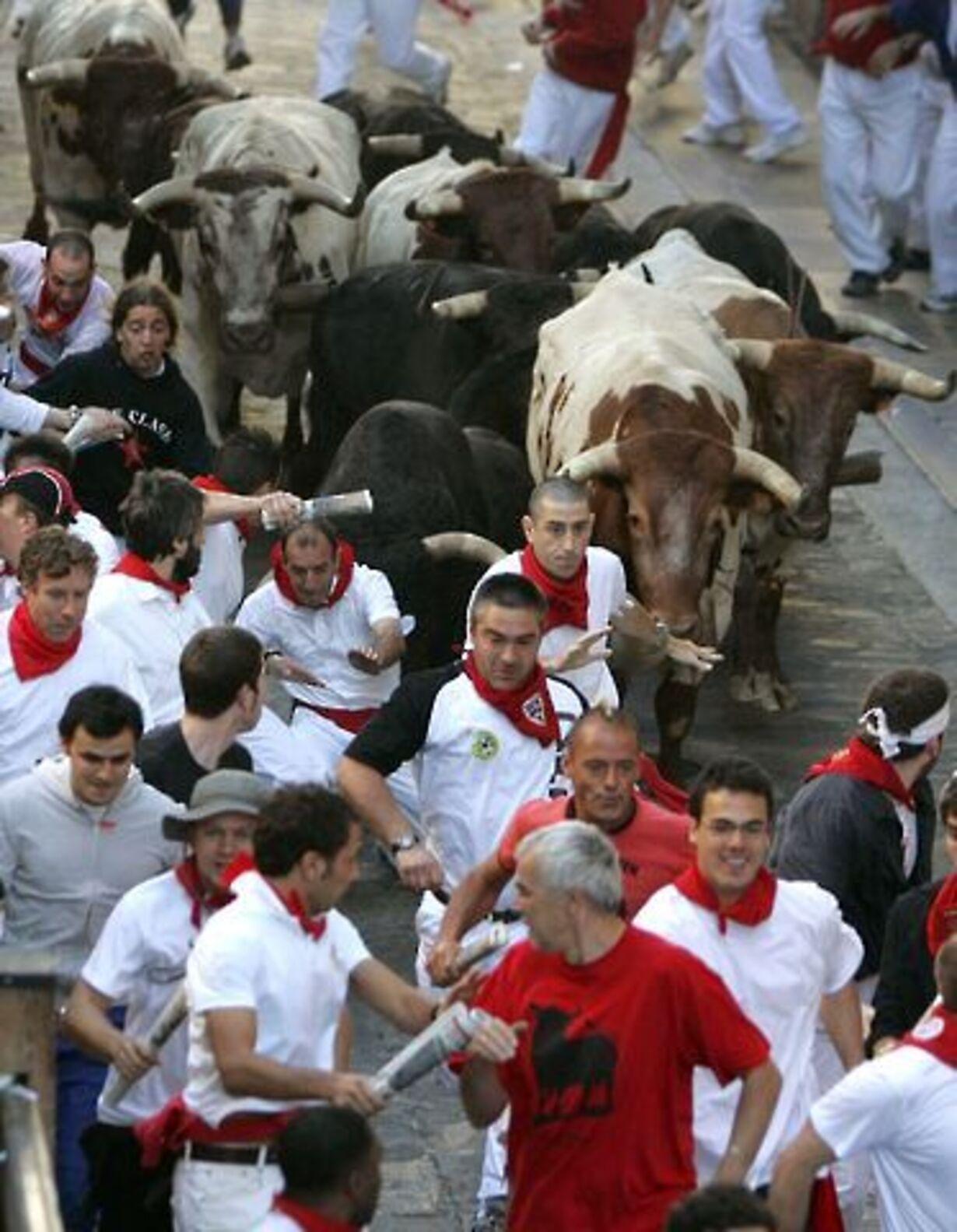 Dramatisk tyreløb i Pamplona - 3