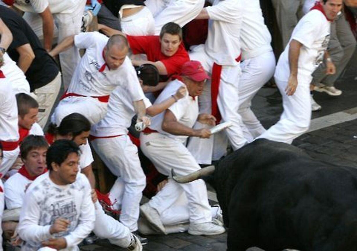 Dramatisk tyreløb i Pamplona - 4