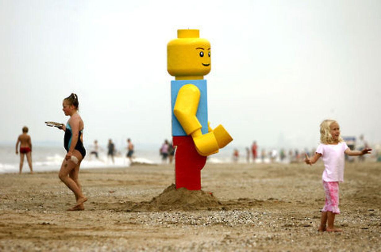 Gigantisk Lego-mand fisket op - 2