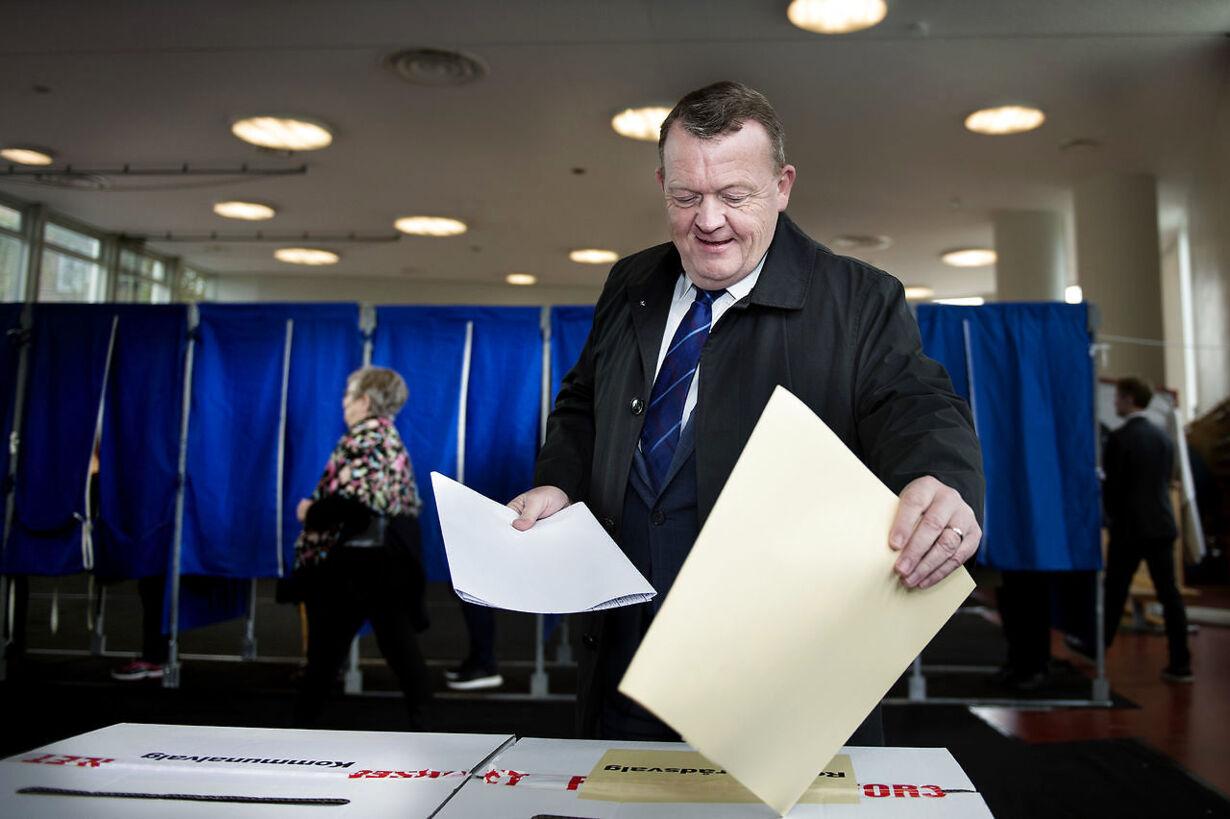 Kv2017 Lars Løkke Rasmussen stemmer