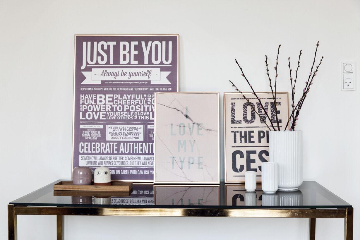 Typogra til væggen