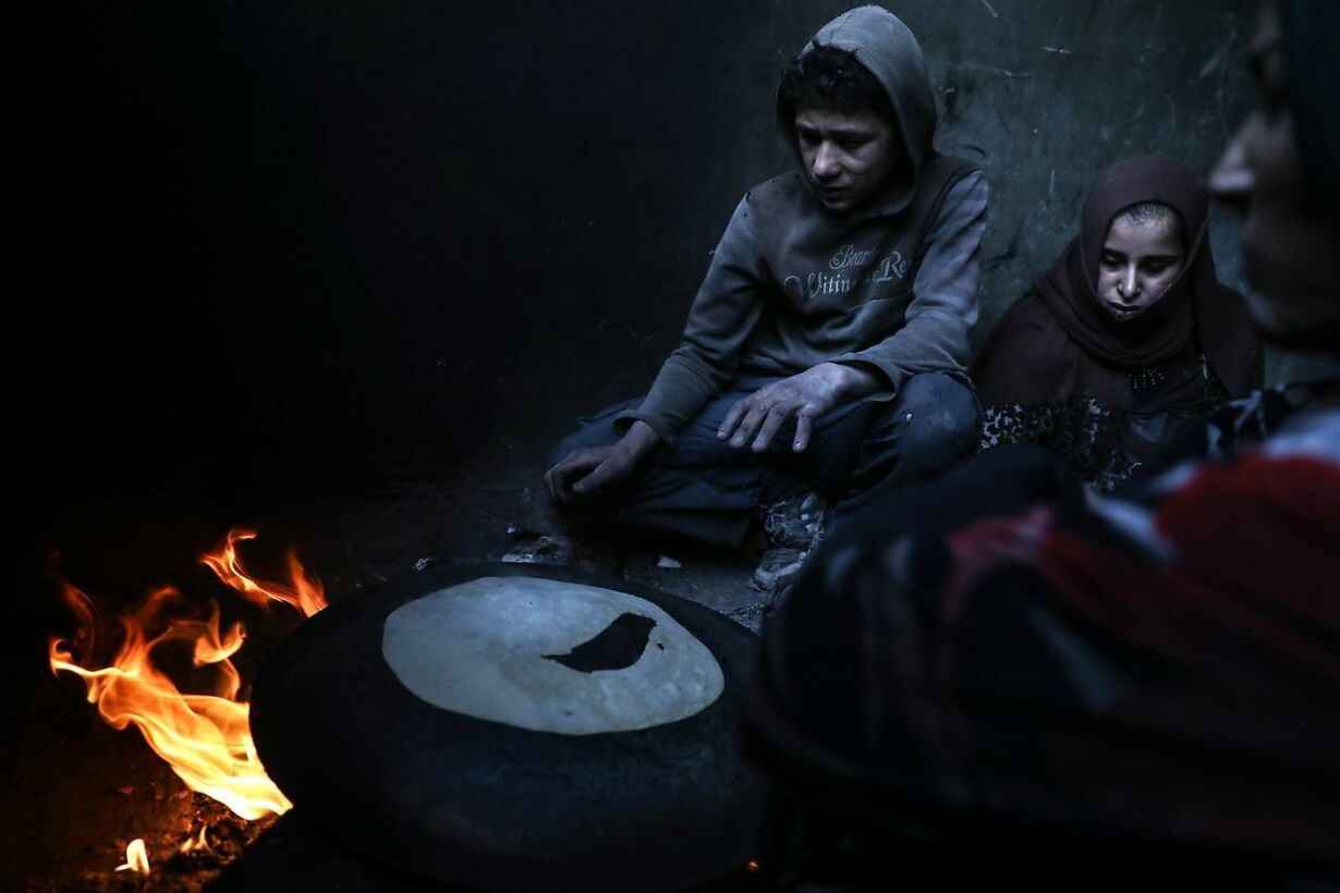 SYRIA CONFLICT HAMORIA DISPLACED FAMILY EASTERN GHOUTA