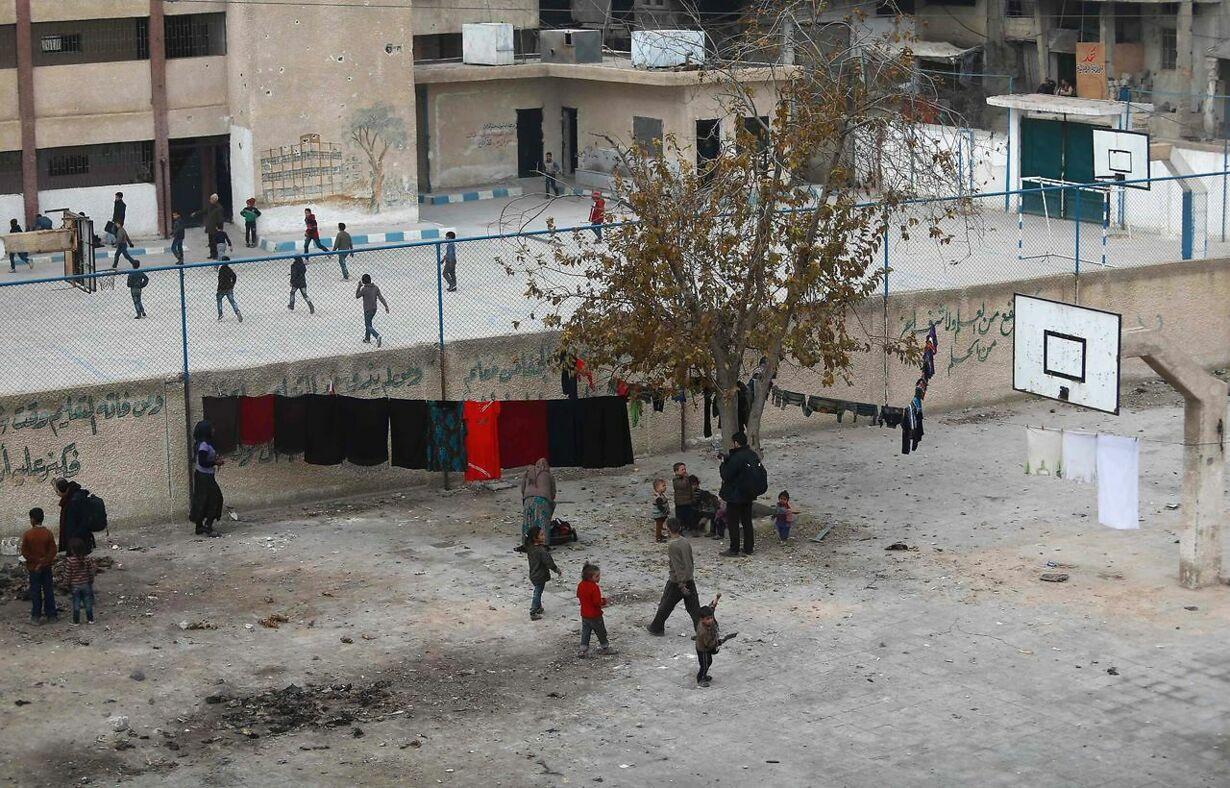 SYRIA-CONFLICT-DISPLACED-WEATHER